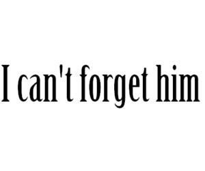 love, forget, and him image