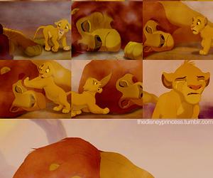 disney, lion king, and sad image