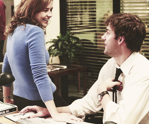 jim halpert, pam beesly, and the office image