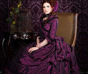bustle, dress, and purple image