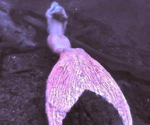 mermaid, pink, and grunge image