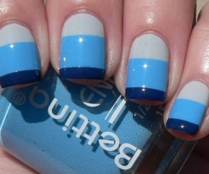 nails, blue, and nail art image