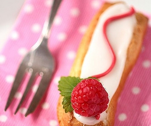 raspberry, food, and eclairs image