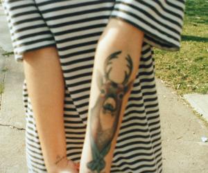 tattoo, deer, and vintage image