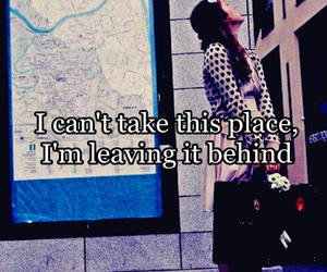 quote, girl, and place image