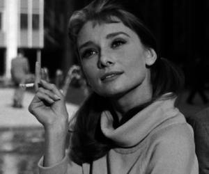 audrey hepburn and cigarette image