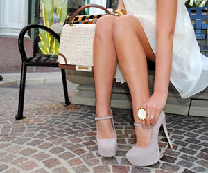 high heels, pretty, and pink image