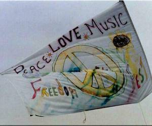hippies, love, and music image