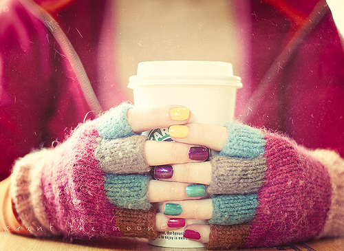 coffee, hands, and colors image