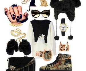 cat, cats, and faux fur image