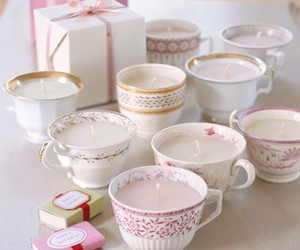candle, diy, and teacup image