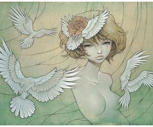 art, audrey kawasaki, and birds image