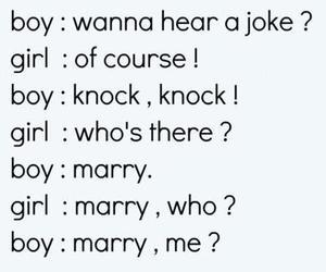 love, boy, and joke image