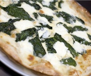cheese, pizza, and spinach image