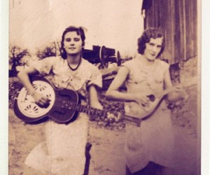 band, guitars, and old image