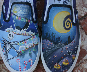 shoes, vans, and nightmare before christmas image