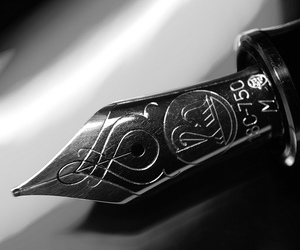 black and white, fountain pen, and pen image