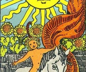 sun, tarot, and card image