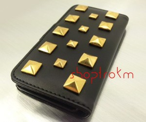 gold, leatherette, and studs image