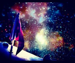 boat, outerspace, and space image