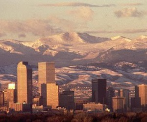 city, denver, and mountains image