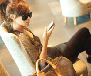 girl, sunglasses, and Louis Vuitton image