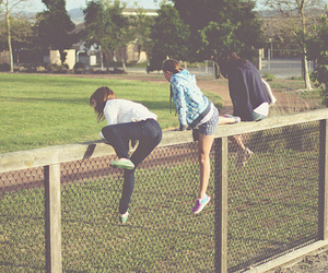 friends and fence image