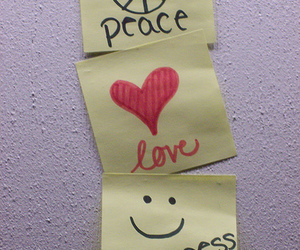 peace, love, and happiness image
