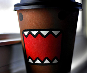 domo, coffee, and domo kun image