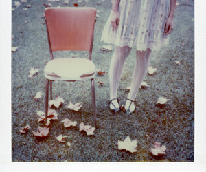 chair, dress, and tights image