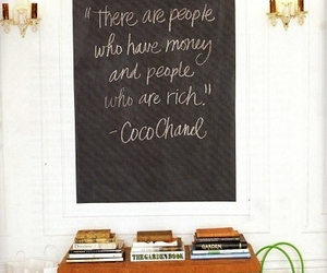 quote, coco chanel, and rich image