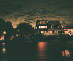house, night, and beautiful image