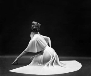black and white, dress, and mark shaw image