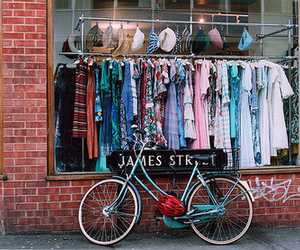 vintage, bike, and clothes image