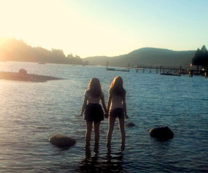 best friends, sunset, and typography image