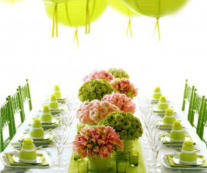 green and table image