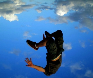 fly, jump, and sky image