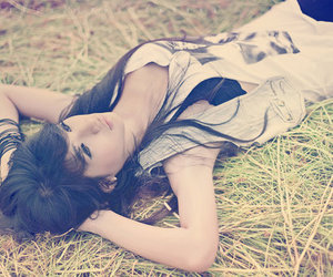 fashion, girl, and grass image