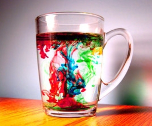 water and color image
