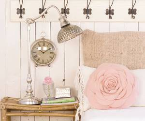 pink, rose, and bed image
