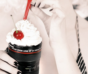 camera, cherry, and photography image