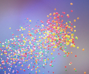 balloons, sky, and color image
