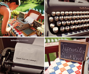typewriter and wedding image