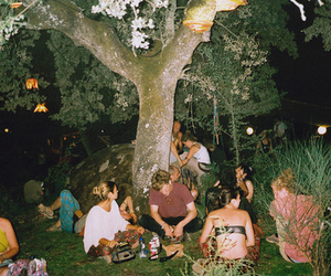garden, night, and picnic image