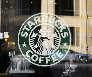 starbucks, coffee, and mustache image