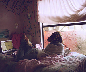 girl, room, and window image
