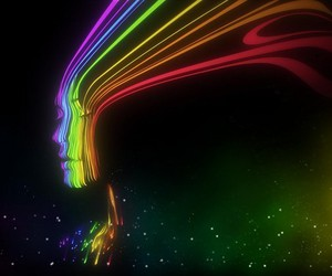 colors, rainbow, and face image