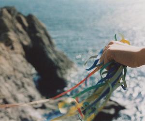 sea, photography, and ribbon image