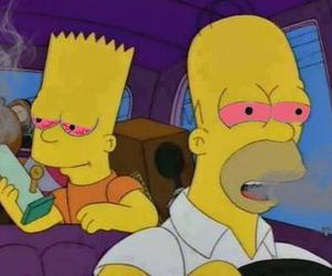 simpsons, weed, and bart image