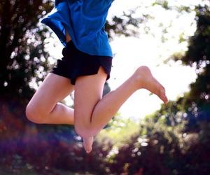 jump and girl image